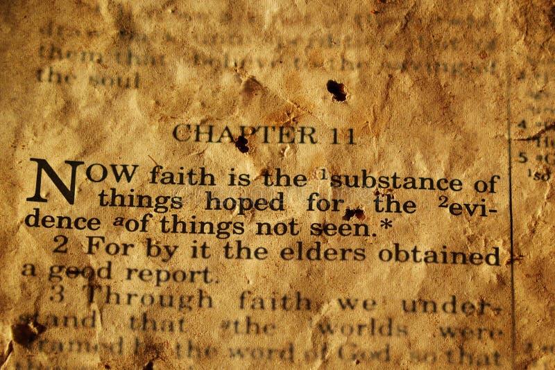 Bible Verse. Photo based illustration of Biblical verse Hebrews 11:1 stock illustration