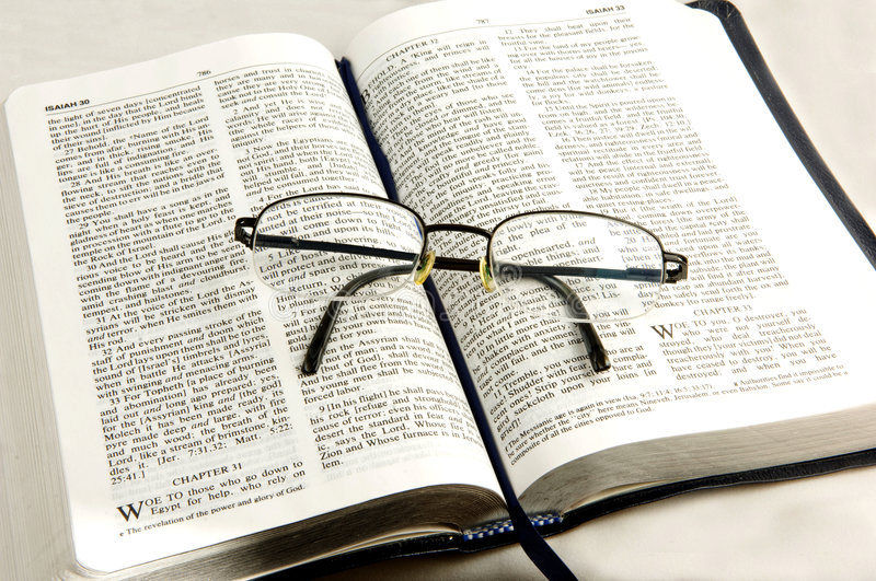 Download Bible whit eye glasses. stock image. Image of isolated - 4700689