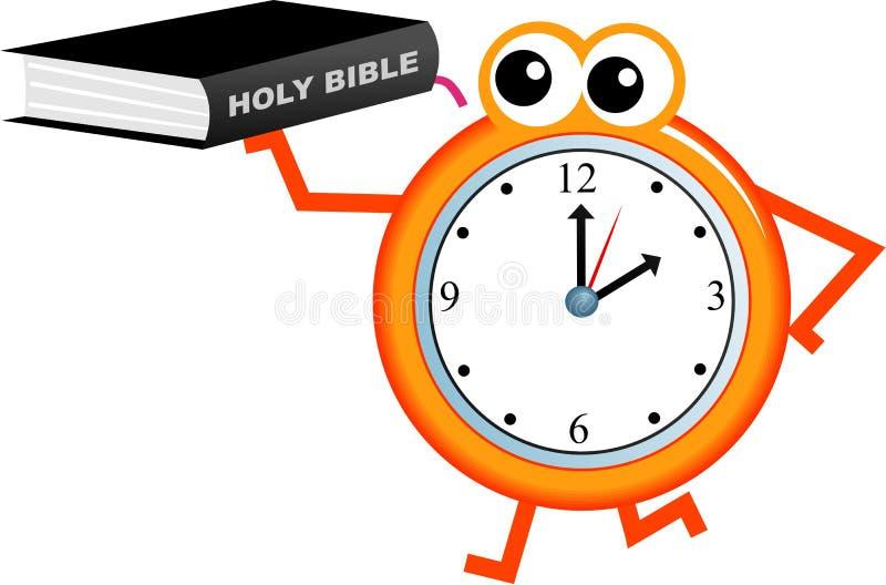 biblia czas ilustracja wektor