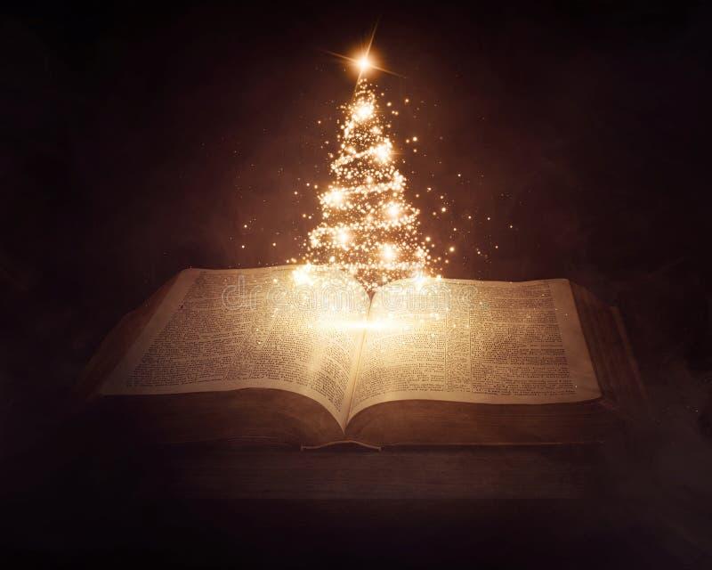 Biblia de la Navidad fotos de archivo libres de regalías