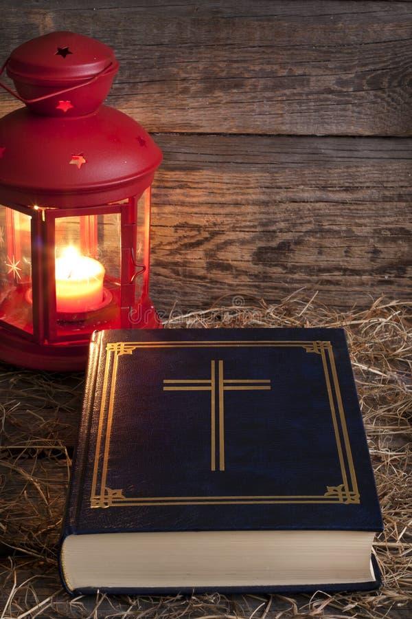 Biblia i boże narodzenie czas obraz royalty free