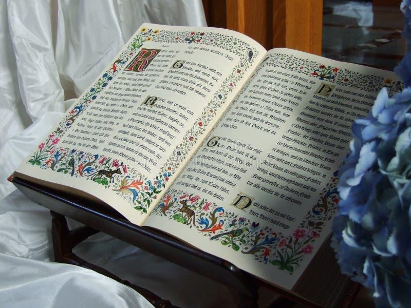 Biblia monasteru kościół w Jakobsbad zdjęcia stock