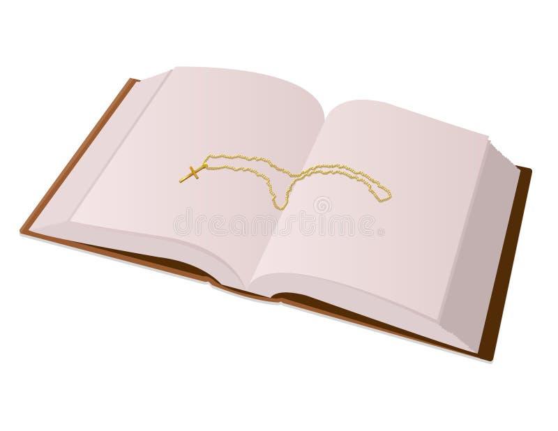 Biblia y cruz ilustración del vector