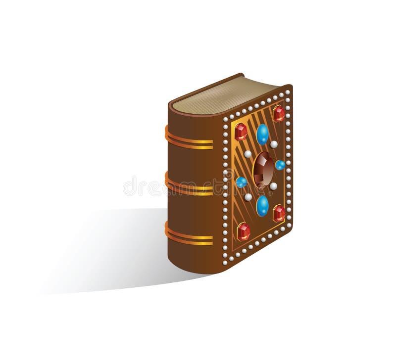 biblia zamykająca dekorująca ilustracja royalty ilustracja