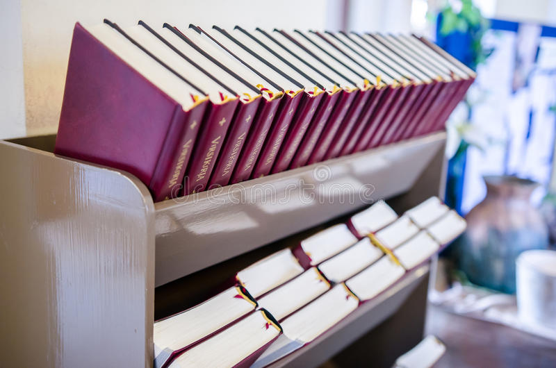 Biblias en Alexander Church imagen de archivo libre de regalías