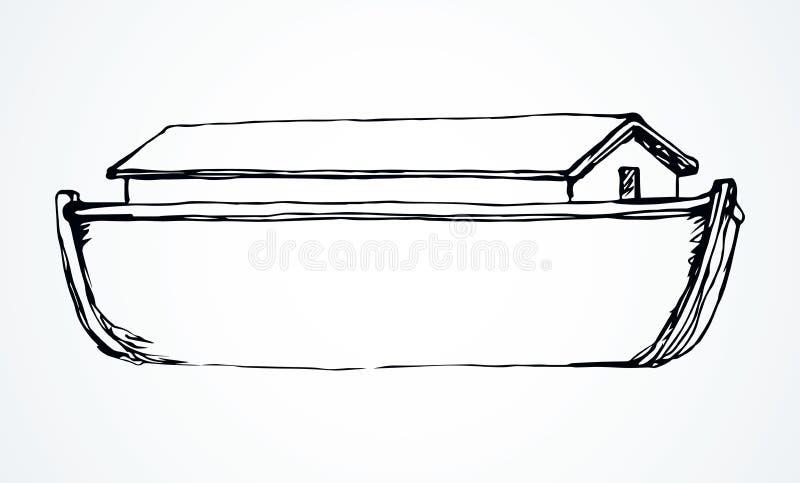 Biblical Noah`s Ark. Vector drawing vector illustration