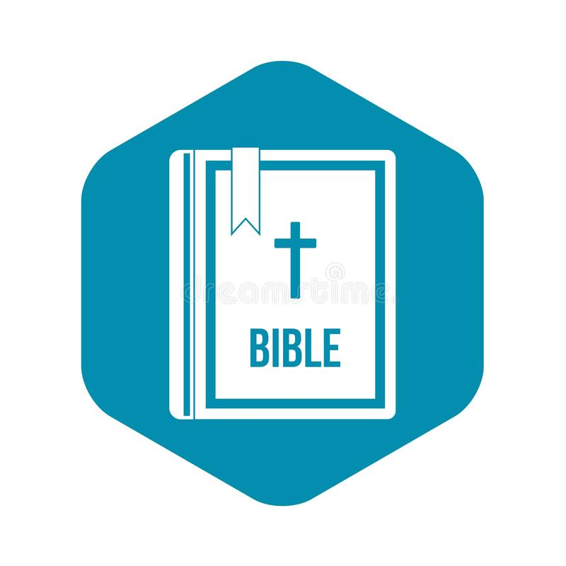 Biblii ikona w prostym stylu royalty ilustracja