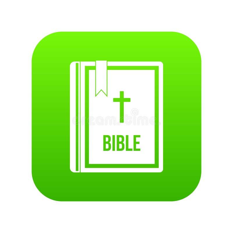 Biblii ikony cyfrowa zieleń royalty ilustracja