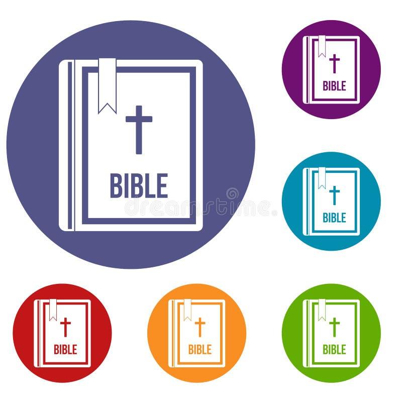Biblii ikony ustawiać royalty ilustracja