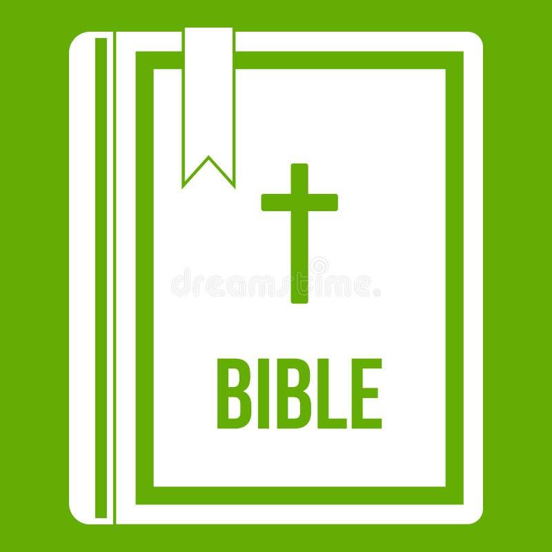 Biblii ikony zieleń ilustracja wektor