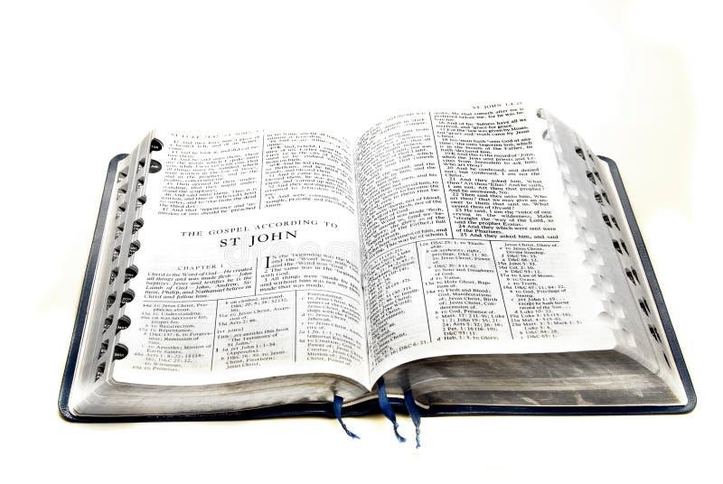 biblii John nowy st testament zdjęcie stock