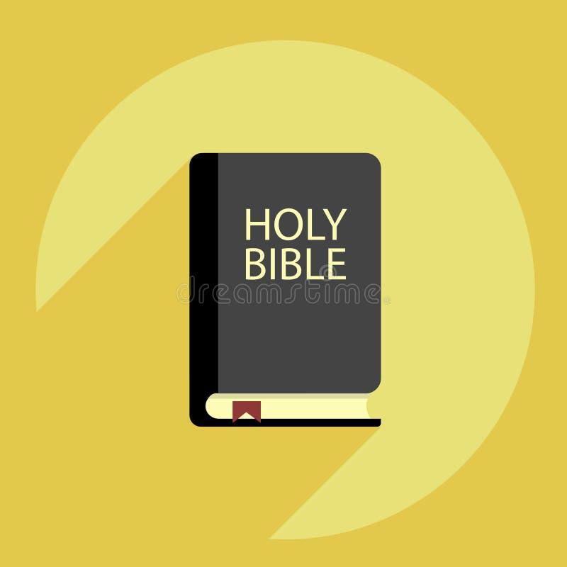 Biblii książka na żółtym tle obrazy royalty free