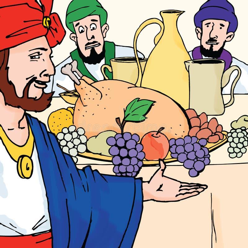 Biblii opowieści - Ślubny Bankiet Parabola ilustracji