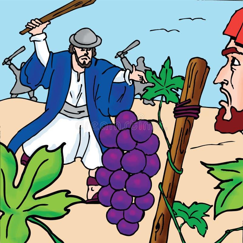 Biblii opowieści - Dzierźawcy Parabola ilustracja wektor