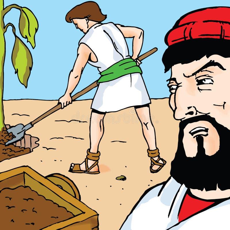 Biblii opowieści - figa Parabola royalty ilustracja
