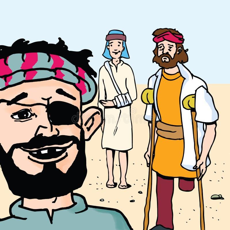 Biblii opowieści - Wielki Bankiet Parabola ilustracji