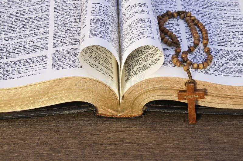 biblii serca liść robić fotografia stock