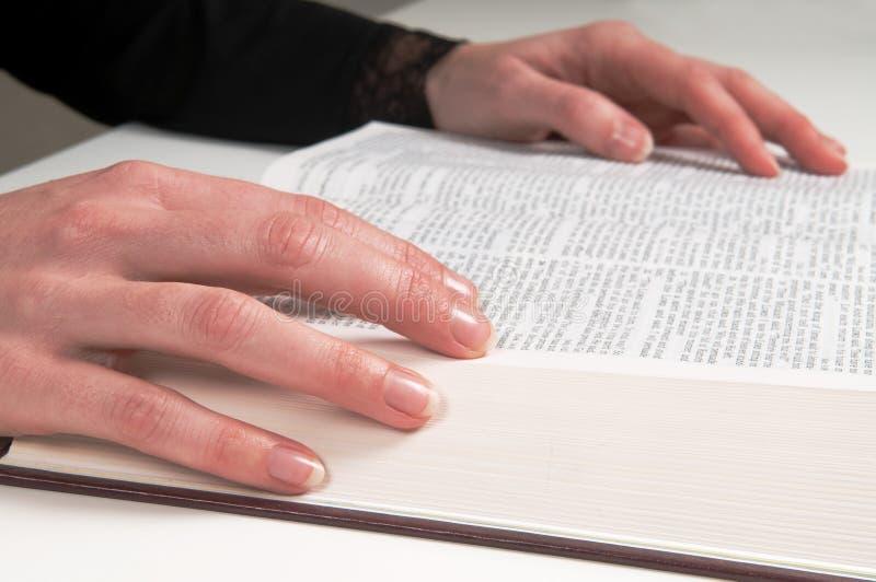 biblii studiowanie fotografia stock
