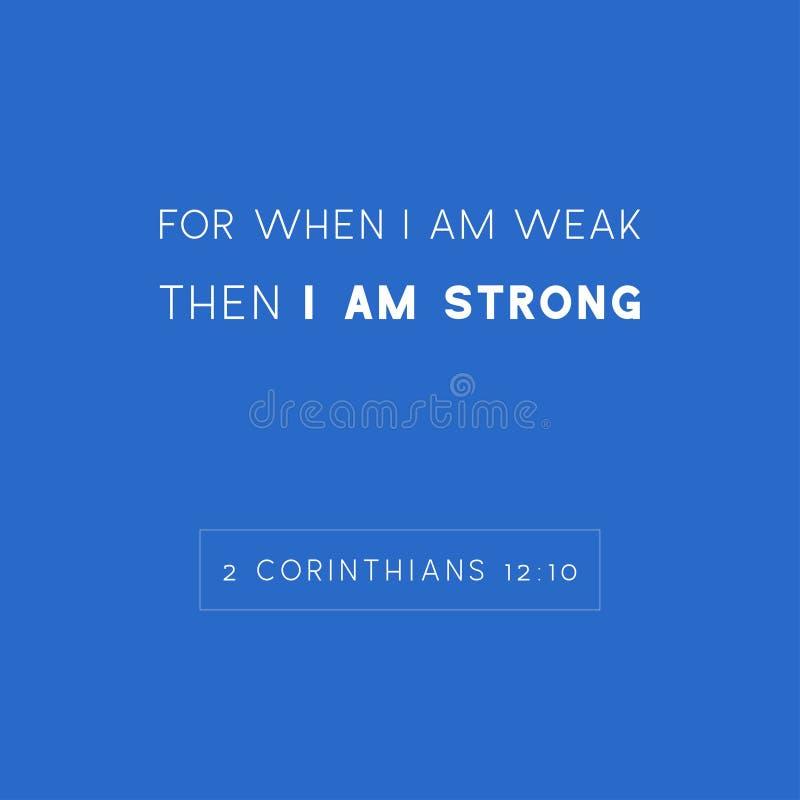 Biblii wycena, dato che jest silna gdy jestem słaby ja wtedy ilustracji