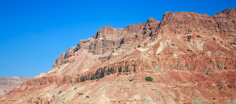 biblijna pustyni krajobrazu scena fotografia stock
