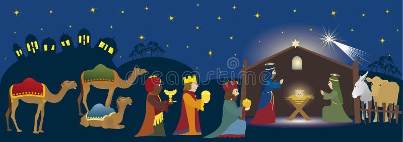 biblijna scena royalty ilustracja