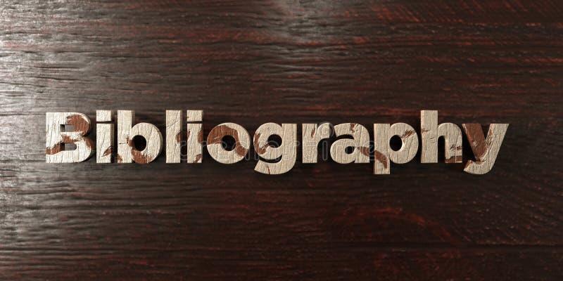 Bibliografia - grungy drewniany nagłówek na klonie - 3D odpłacający się królewskość bezpłatny akcyjny wizerunek royalty ilustracja