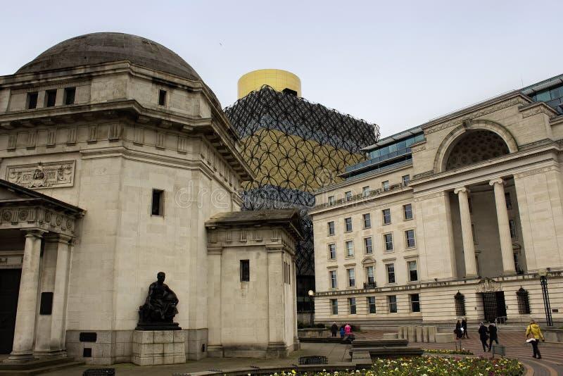 Biblioteca a Birmingham, Inghilterra immagini stock libere da diritti