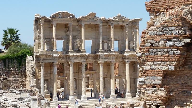 Biblioteca cent3igrada en Ephesus fotografía de archivo