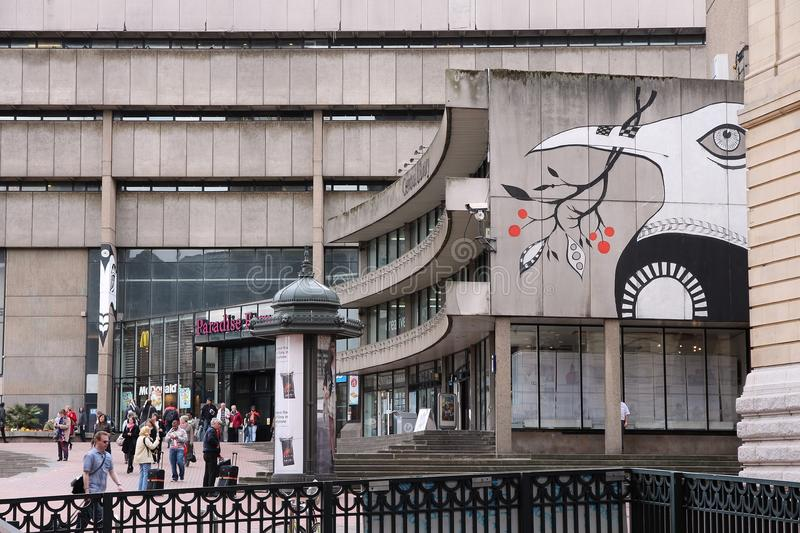 Biblioteca central de Birmingham imagens de stock