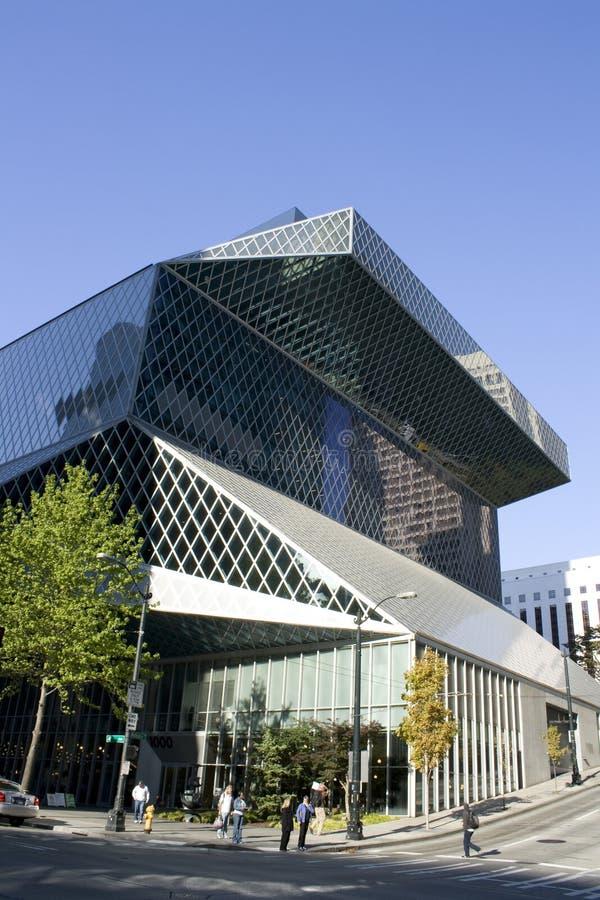 Biblioteca central de Seattle fotografia de stock