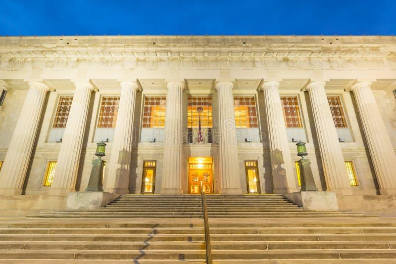 Biblioteca centrale a Indianapolis immagine stock libera da diritti