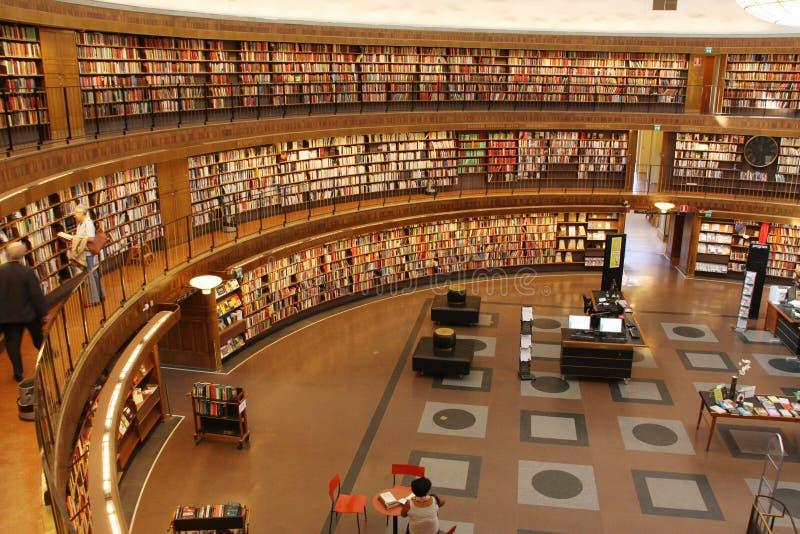 Biblioteca circular fotografia de stock