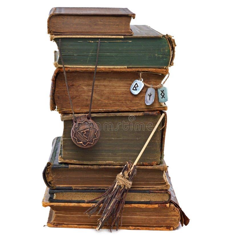 A biblioteca da bruxa imagens de stock royalty free