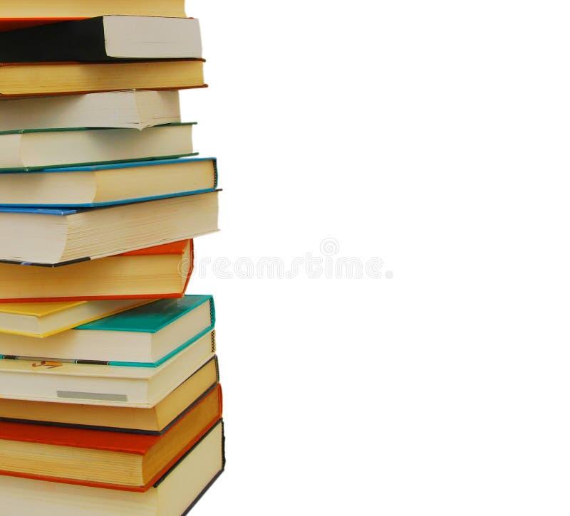 Biblioteca da pilha de livros imagens de stock royalty free