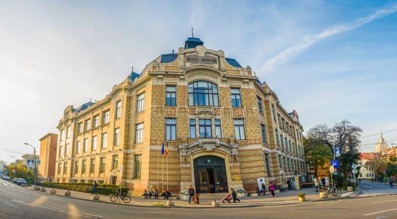 Biblioteca da universidade de Cluj Napoca fotos de stock