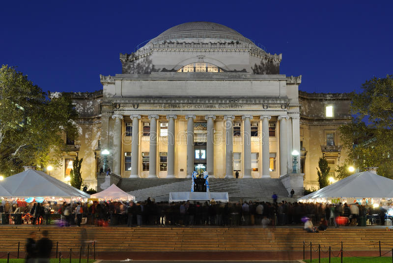 A biblioteca da Universidade de Columbia imagem de stock royalty free