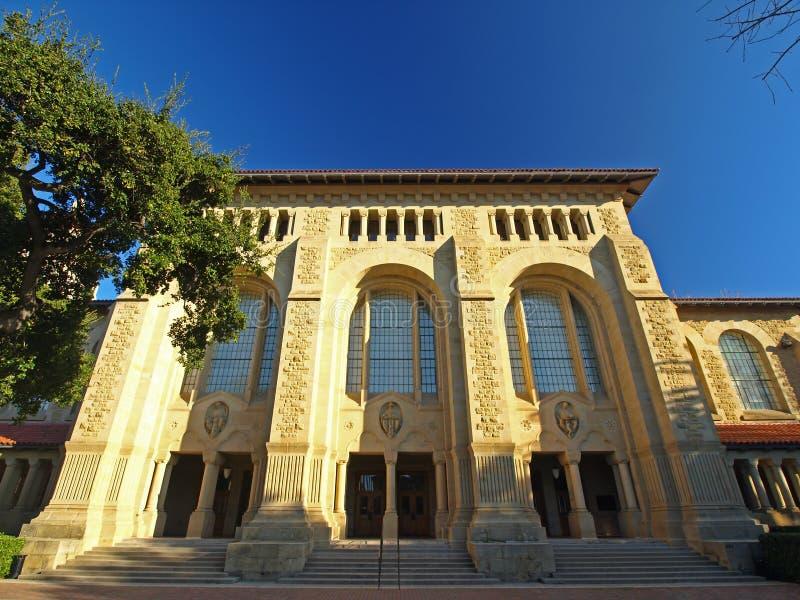 A biblioteca da Universidade de Stanford fotografia de stock