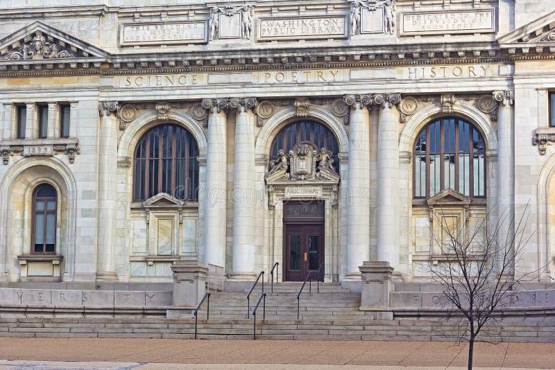 A biblioteca de Carnegie no Mt Vernon Square no Washington DC imagem de stock