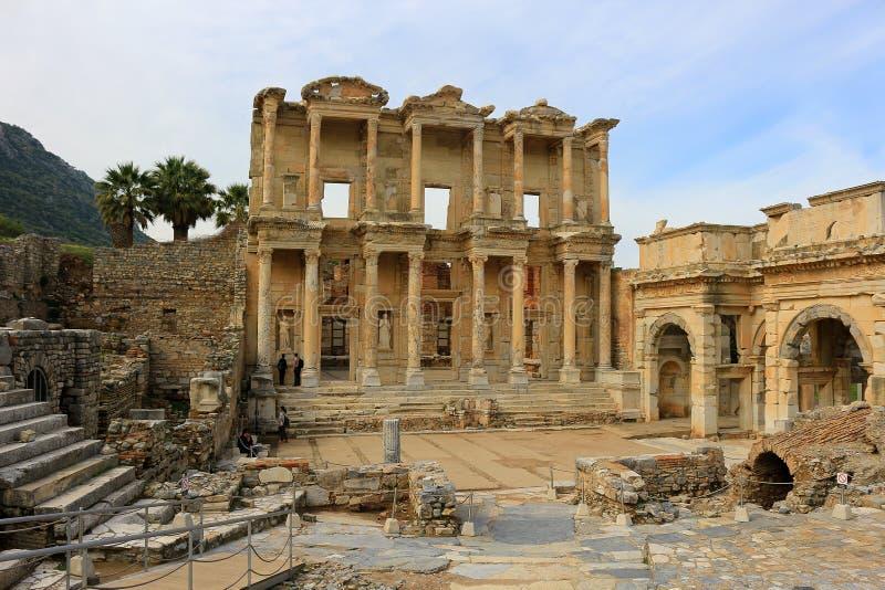 Biblioteca de Celsus en Ephesus, Turquía fotos de archivo