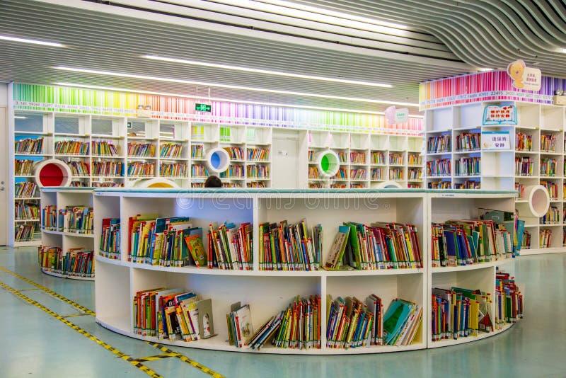 Biblioteca de cidade de Guangzhou, Guangdong, porcelana fotografia de stock royalty free