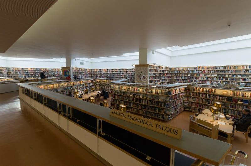 Biblioteca de cidade de Rovaniemi imagem de stock royalty free