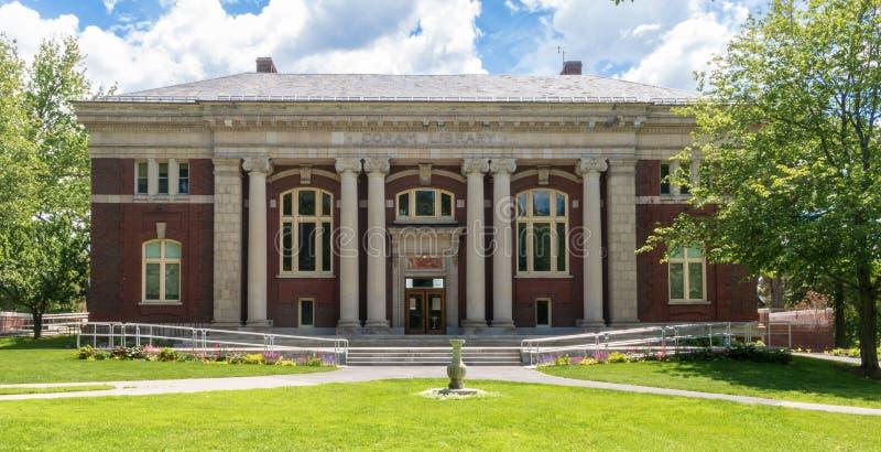 Biblioteca de Coram em Bates College fotografia de stock