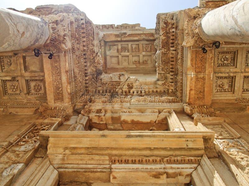 Biblioteca de Ephesus foto de archivo