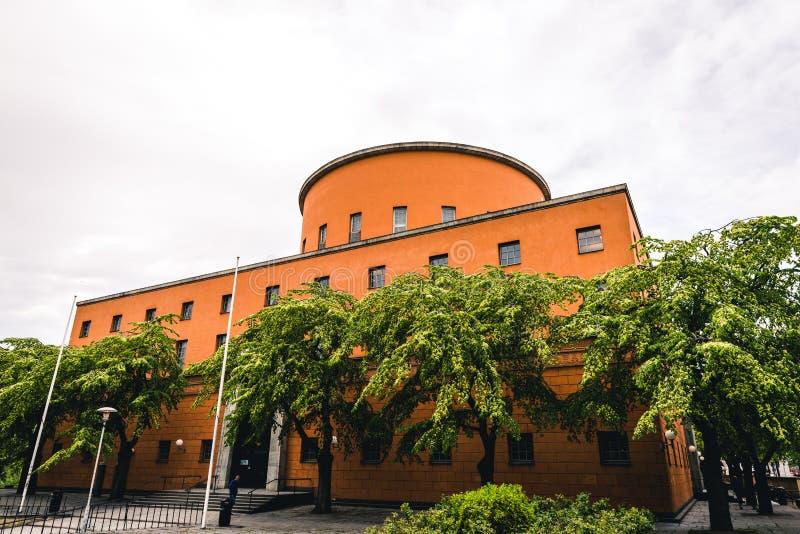 Biblioteca de la ciudad hermosa de Estocolmo Stadsbibliotek imagen de archivo libre de regalías