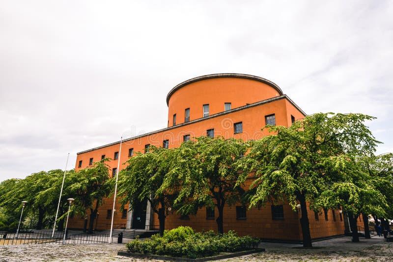 Biblioteca de la ciudad hermosa de Estocolmo Stadsbibliotek foto de archivo