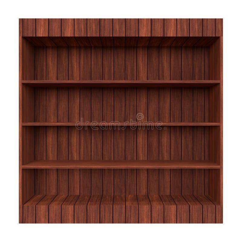 Biblioteca de madeira velha. ilustração do vetor