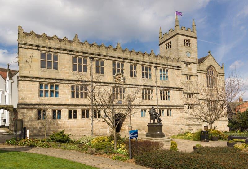 Biblioteca de Shrewsbury fotos de stock royalty free