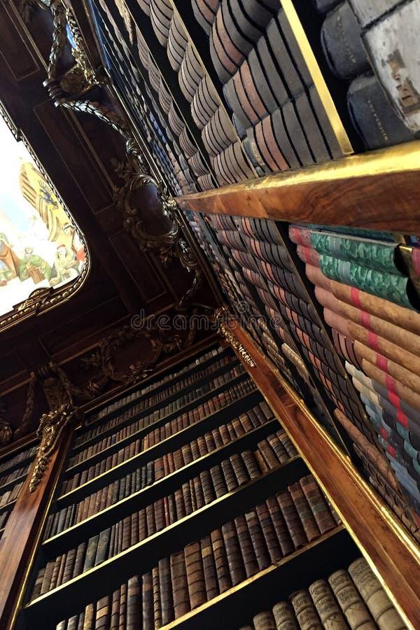 Biblioteca de Strahov em Praga fotos de stock royalty free