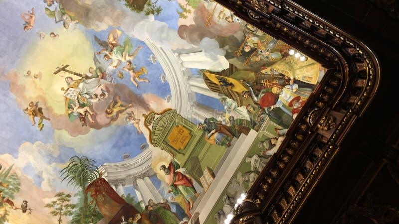Biblioteca de Strahov em Praga foto de stock