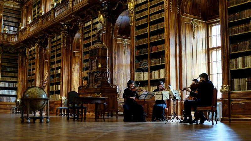 Biblioteca de Strahov em Praga fotografia de stock royalty free